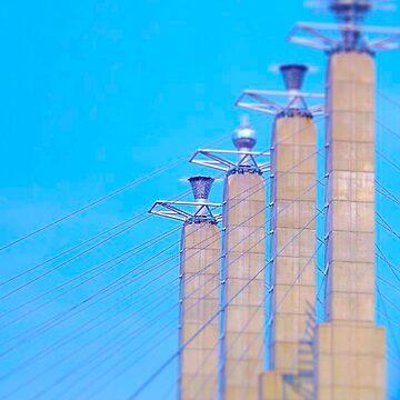 Sky Stations, Downtown Kansas City, Tilt Shift by PhotosByTrish