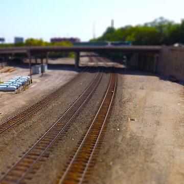Railroad Tracks, Kansas City Tilt-Shift by PhotosByTrish