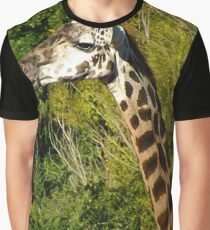 Giraffe with Tongue Sticking Out Graphic T-Shirt