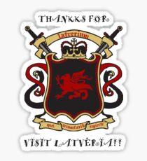 Thankks for Visit Latveria!! Sticker