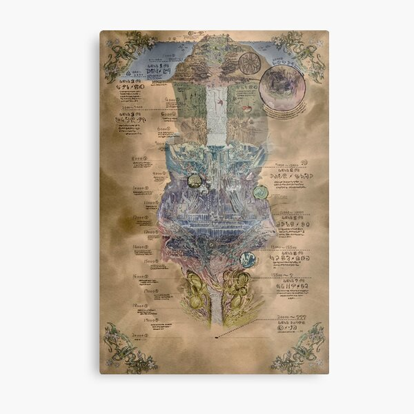 Made In Abyss Map Metal Print
