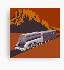 Steam Train Locomotive Retro Canvas Print