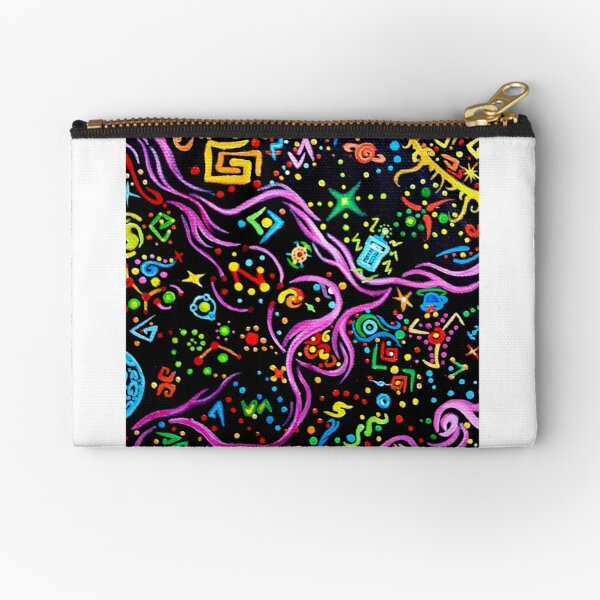 Time Vortex - Acrylic Painting Zipper Pouch