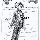 'HEAD ABOVE WATER (21ST CENTURY MAN)' by Jerry Kirk