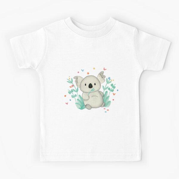 Koala In The Floral Kids T-Shirt