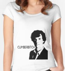 Cumberbitch (detail)  Women's Fitted Scoop T-Shirt
