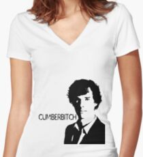 Cumberbitch (detail)  Women's Fitted V-Neck T-Shirt
