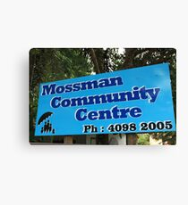 MCC - Mossman Community Centre Canvas Print