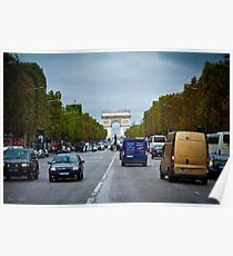 Traffic in Paris, France Poster