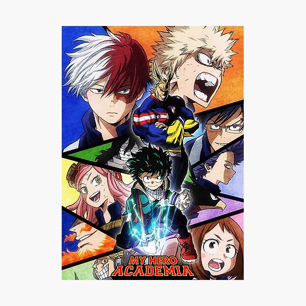 My Hero Academia (Boku no Hero Academia) Mha Poster Impression photo