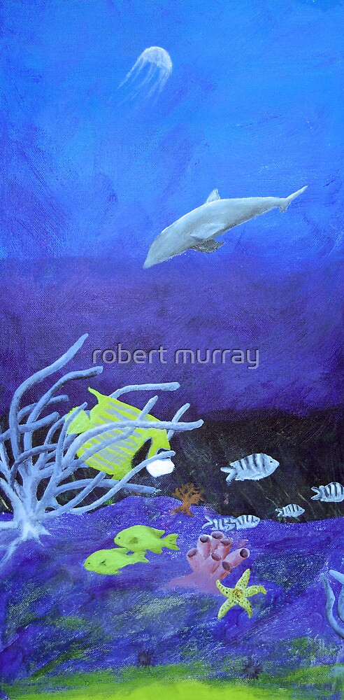 underwater half of diptyc by robert murray