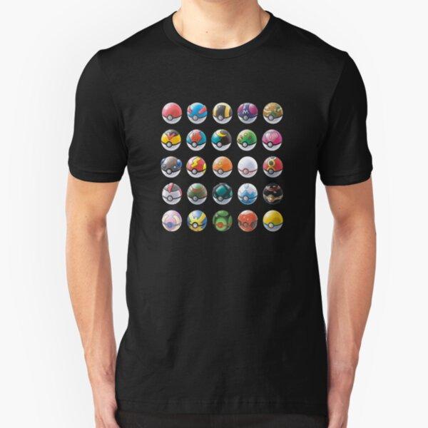 PokeBalls Shirt Slim Fit T-Shirt