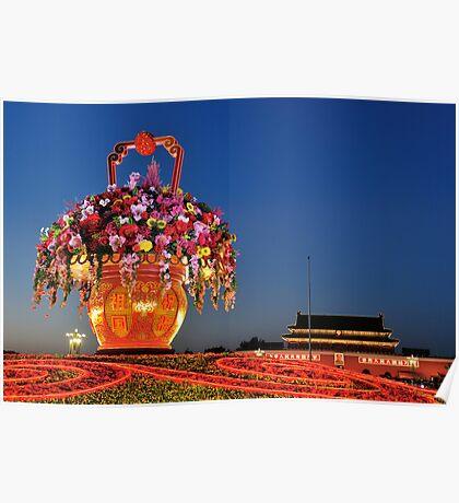 Tiananmen Flowers Poster