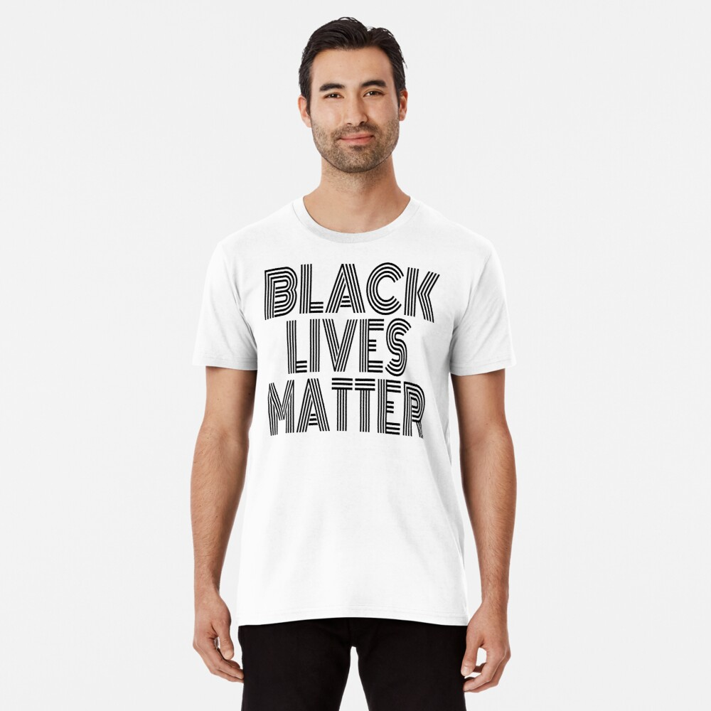 Black Lives Matter (Fight Injustice • Walk With Us Slogan • Forza Anonymous) Premium T-Shirt
