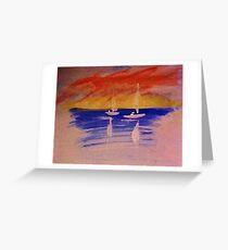 Romantic seascape, watercolor Greeting Card