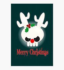 Reindeer of Doom Christmas Greetings Photographic Print