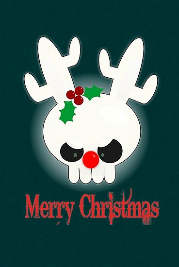 Reindeer of Doom Christmas Greetings by Jellyscuds