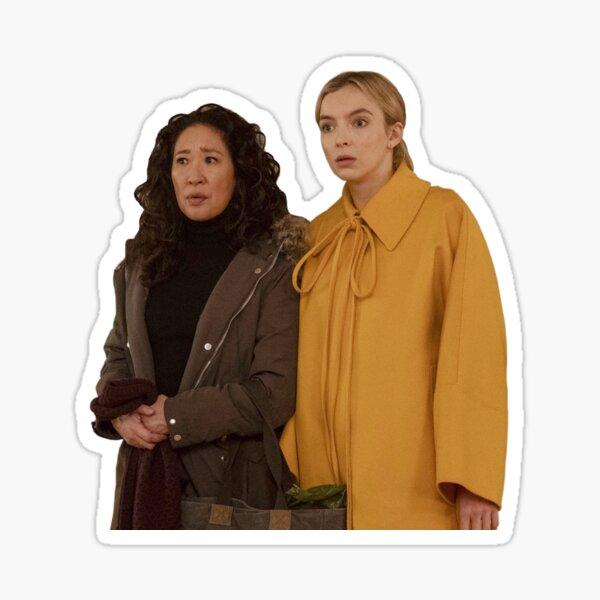 Villanelle and Eve Providing Comic Relief Killing Eve  Sticker