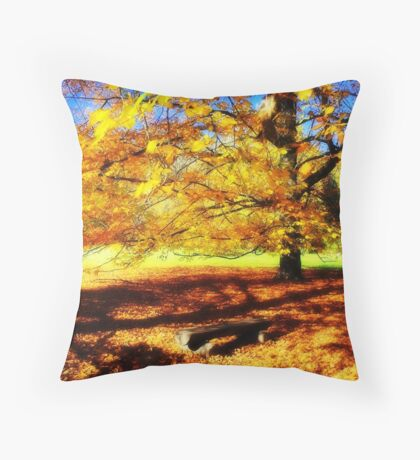 Going to orange Throw Pillow