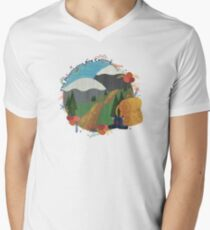 The Mountains Are Calling - Hike Men's V-Neck T-Shirt