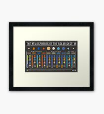 Atmospheres of the Solar System - With Titan & Pluto Framed Print