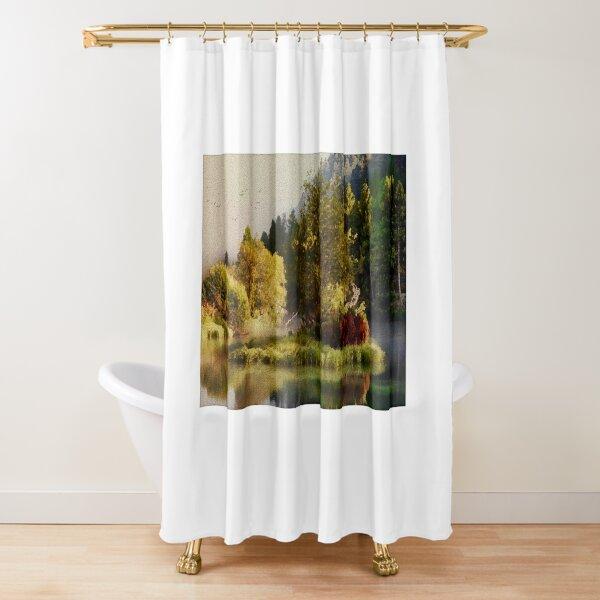 Antique Style Oil Paint Shower Curtain