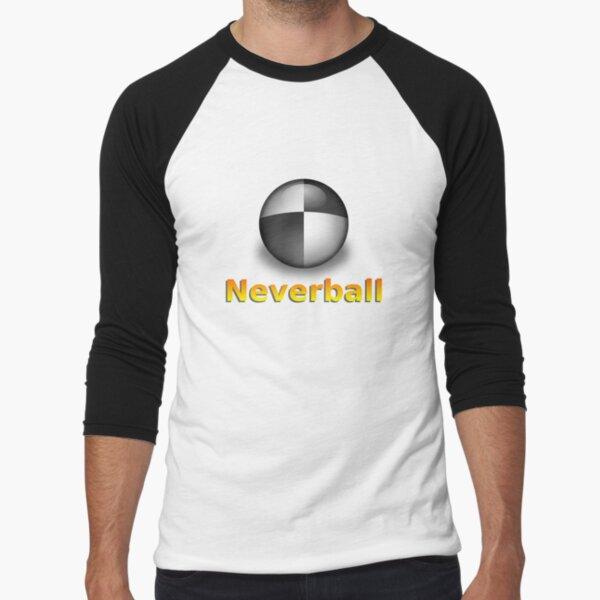 Nevershirt (White Ball) Baseball ¾ Sleeve T-Shirt