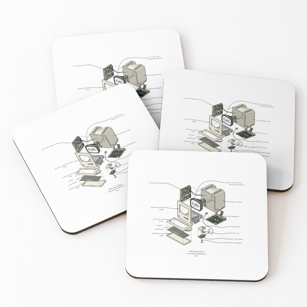 MACINTOSH Coasters (Set of 4)
