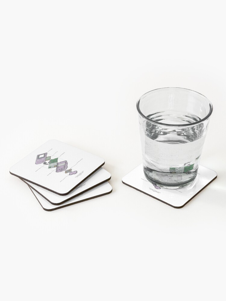 Alternate view of GAMEBOY COLOR Coasters (Set of 4)