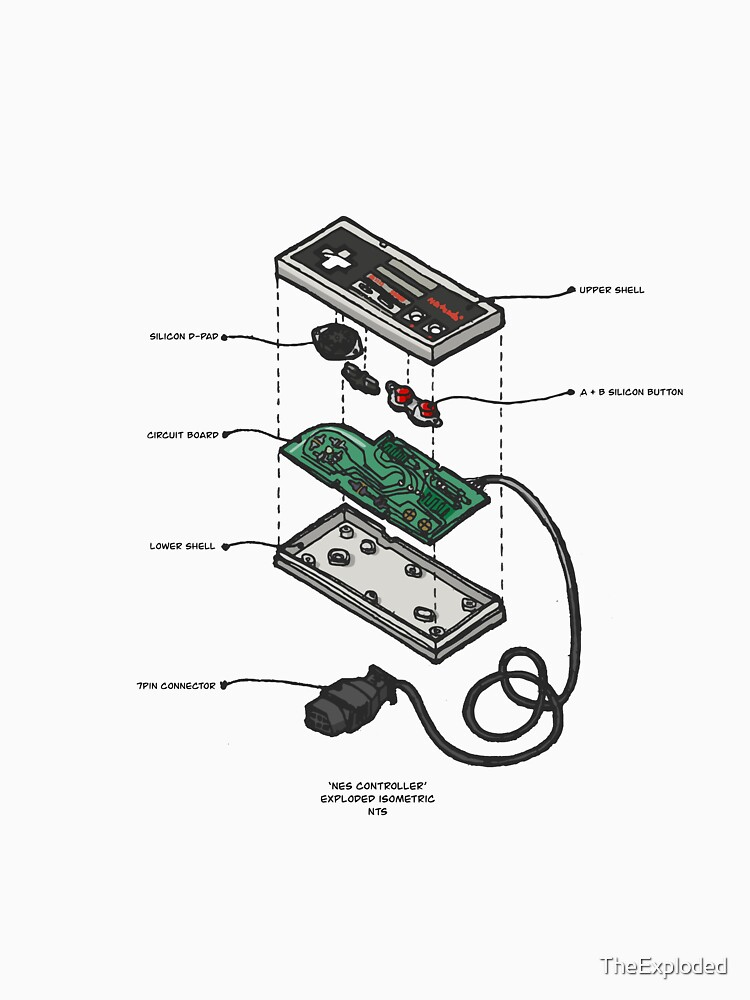 NES CONTROLLER by TheExploded