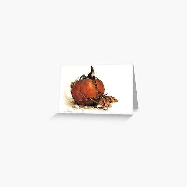 Pumpkin Goblin Greeting Card
