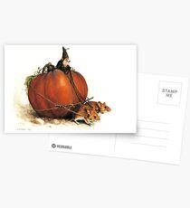 Pumpkin Goblin Postcards