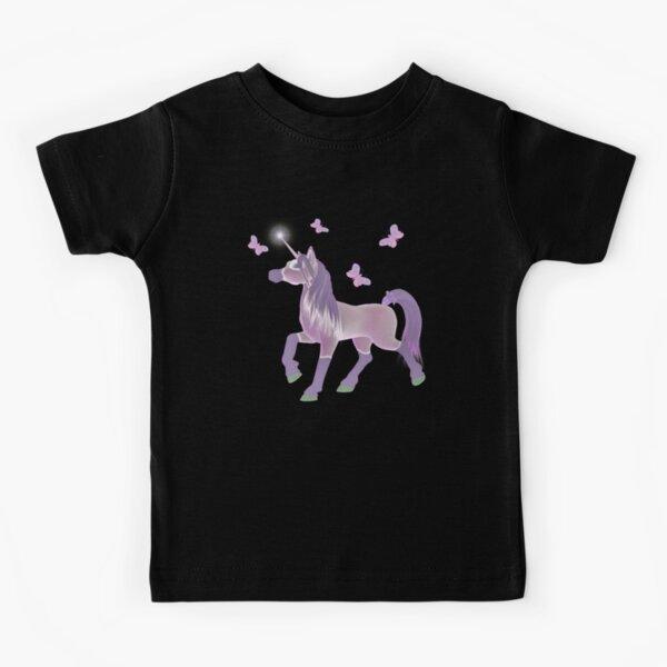 Lilic Unicorn and Butterflies Kids T-Shirt