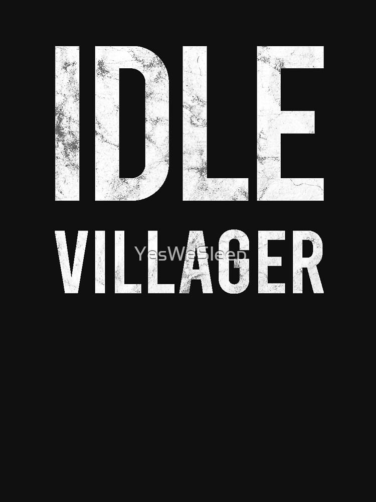Idle Villager by YesWeSleep
