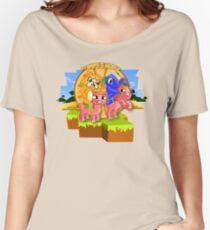 Camiseta ancha para mujer El señor Stampy Cat y el calamar balístico montando cerditos