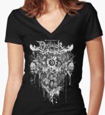 Dethklok Metalocalypse Shirt Women's Fitted V-Neck T-Shirt