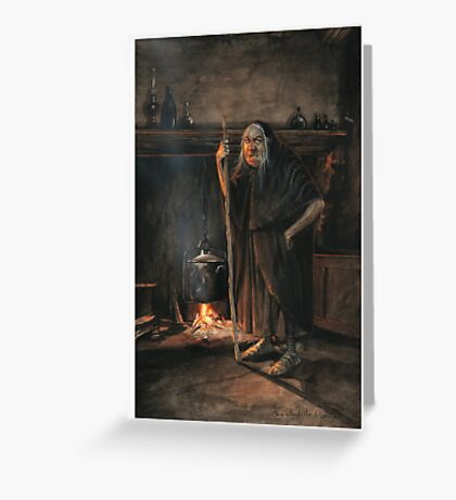 The Den of the Witch Greeting Card