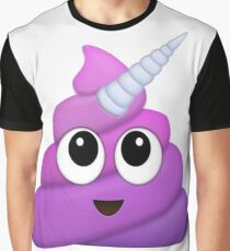Purple Unicorn Poop Emoji Graphic T-Shirt
