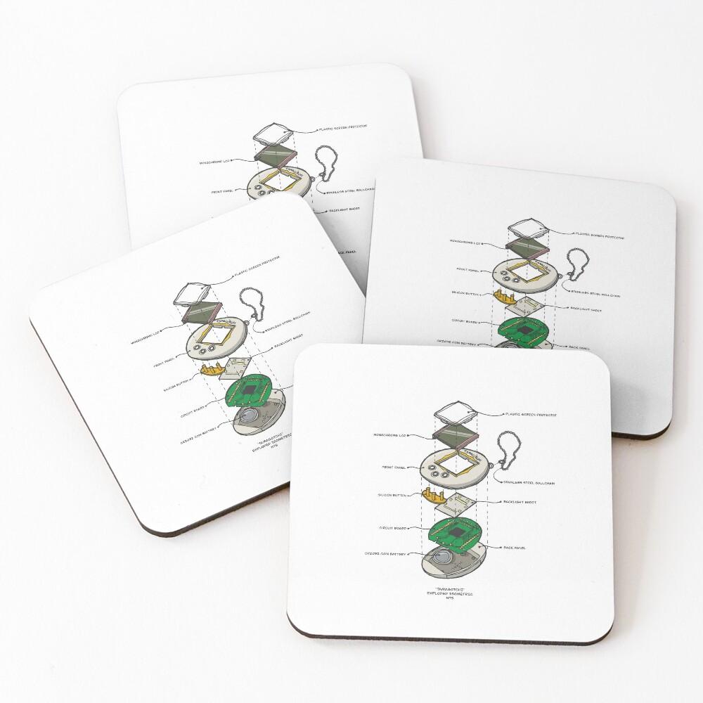 TAMAGOTCHI Coasters (Set of 4)