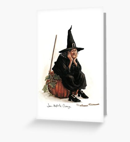 The Sad Witch Greeting Card