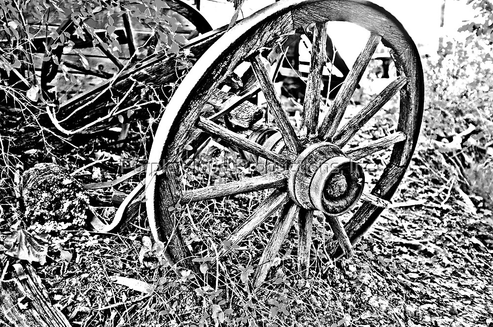 B&W Wagon Wheel by Purple Cloud Productions, Inc.