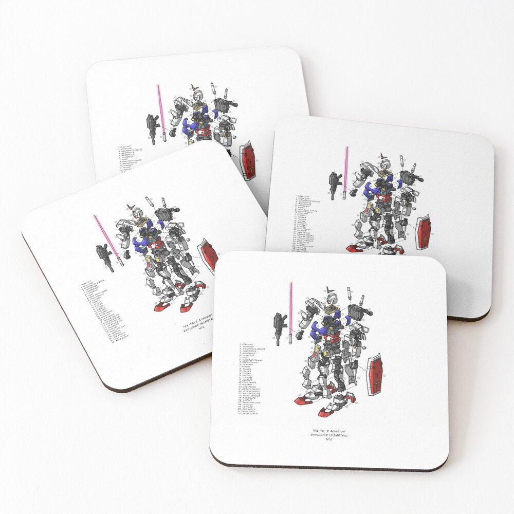 RX-78-2 Coasters (Set of 4)
