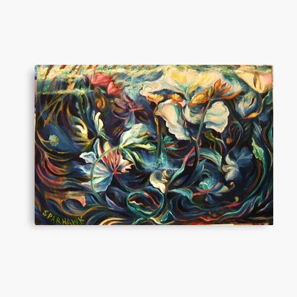 RAINSTORM ON POND, Top To Bottom Canvas Print