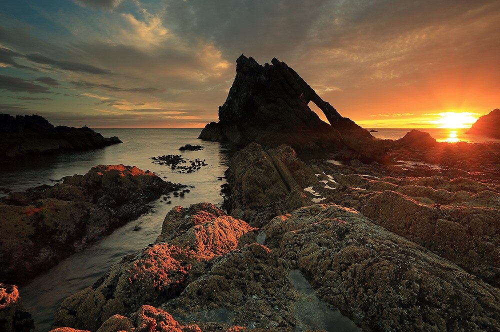 Quot Bow Fiddle Rock Sunrise Quot By Grant Glendinning Redbubble