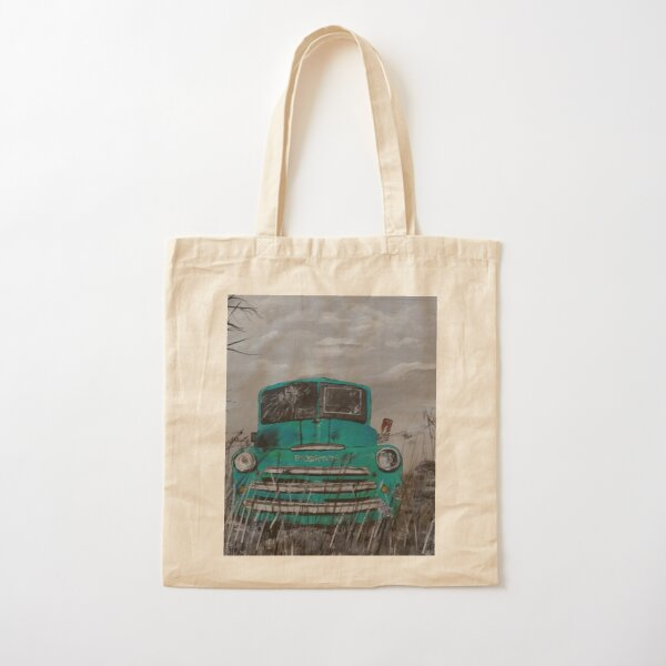 Blue Fargo Truck Abandoned in Field Cotton Tote Bag