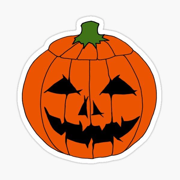 Jack O'Lantern Halloween Pumpkin Face  Sticker