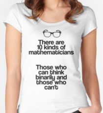 Maths - Binary - Funny Women's Fitted Scoop T-Shirt