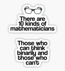 Maths - Binary - Funny Sticker