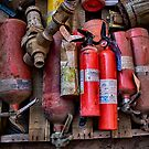 Extinguishers at Rest by Adam Northam