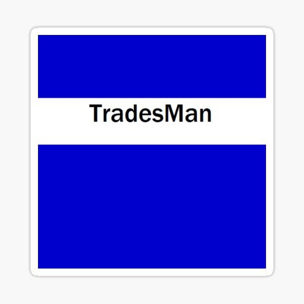 Tradesman Sticker